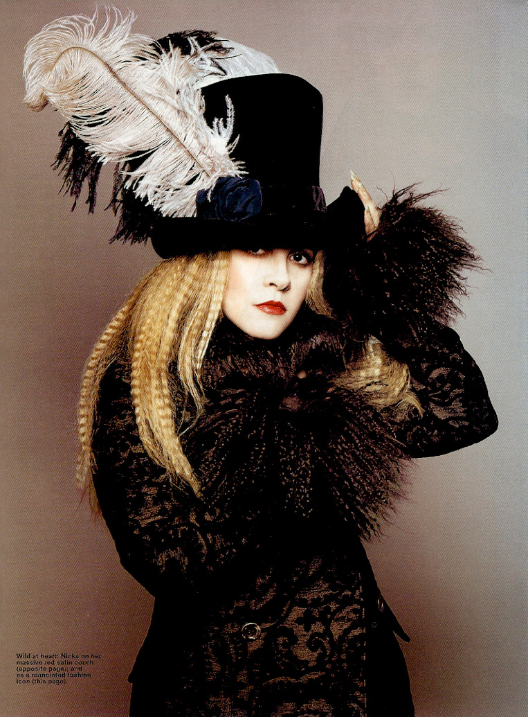 stevie nicks in bazaar magazine  u2013 the changing times of